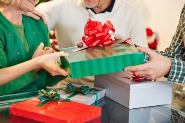 Image result for exchanging christmas gifts