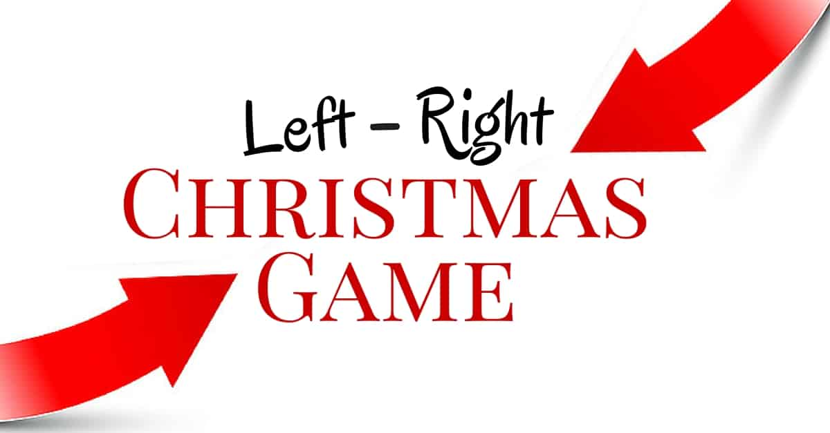 image about Christmas Left Right Game Printable identify The Still left-Specifically Xmas Sport: P It Upon!